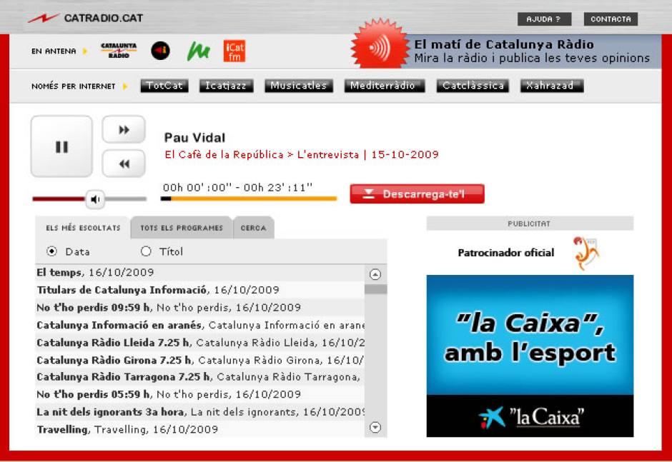 Catalunya Radio Player