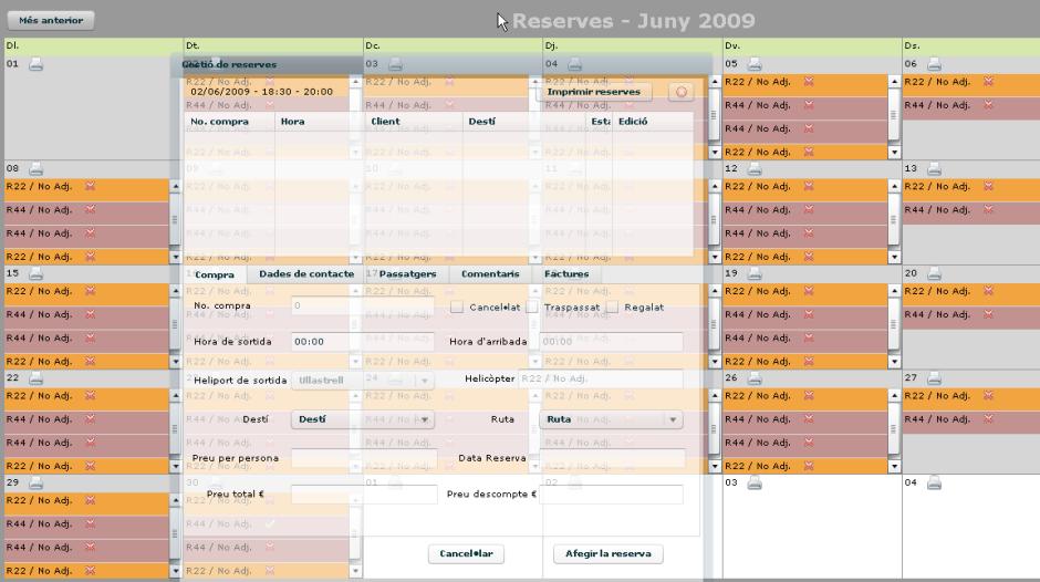 Flight booking calendar